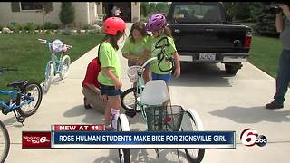 Rose-Hulman mechanical engineering students design bicycle for girl with cerebral palsy - Video