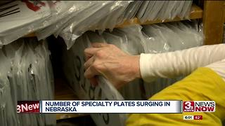 Specialty plates surge in Nebraska - Video