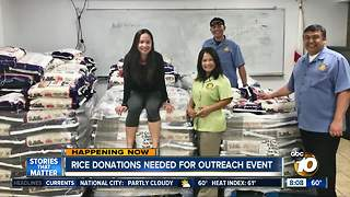 Rice donations needed for local families - Video