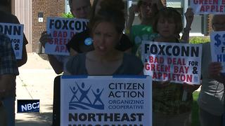 Local protests over Foxconn groundbreaking