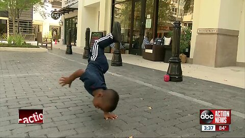 Local eight-year-old boy has insane breakdancing moves