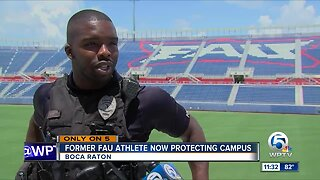 Former FAU football player now protecting campus