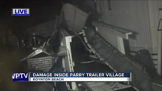 Storm damage at Parry Trailer Village - Video