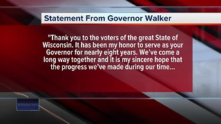 Governor Scott Walker concedes to Tony Evers - Video