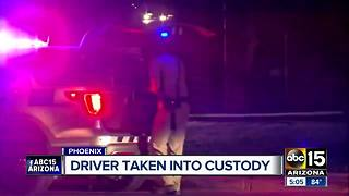 Driver taken into custody for driving erratically near 55th Avenue and Clarendon - Video
