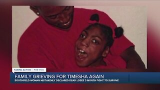 Family grieving for Timesha again