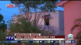 Early Morning Lake Worth Apartment Fire - Video