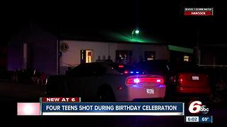 Four teens shot during birthday celebration in Lawrence, 14-year-old arrested - Video