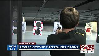 Record background check requests for gun sales - Video