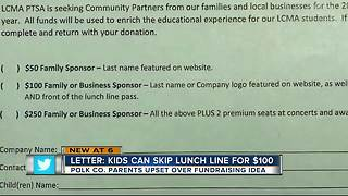 Polk Schools accused of 'cafeteria classism' after fundraising letter - Video