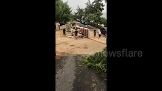 UK tourist witnesses the aftermath of deadly storm in Greece