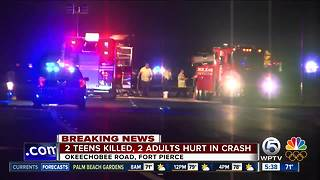 98-year-old wrong-way driver hits, kills 2 teens in St. Lucie County - Video