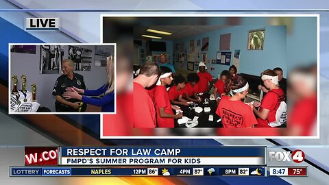 Fort Myers Police Dept. gets ready for Respect for Law Camp 8:30 a.m.