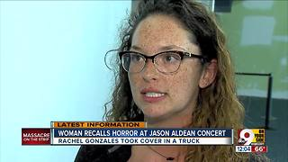 Woman recalls horror at Jason Aldean concert in Las Vegas - Video