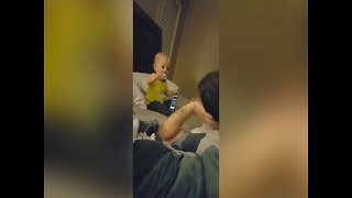 Baby's Giggle is too Precious - Video