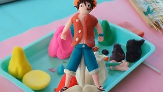 How to Make Luffy One Piece by Play doh - Make Playdough 2016 - Video
