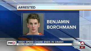 High Speed Chase Ends in Crash - Video