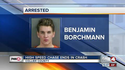 High Speed Chase Ends in Crash