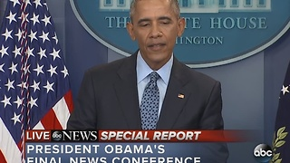 FULL VIDEO: President Obama's final news conference from the White House - Video