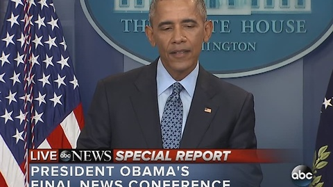 FULL VIDEO: President Obama's final news conference from the White House