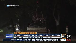 Part of Wyman Park Dell to be dedicated to Harriet Tubman - Video