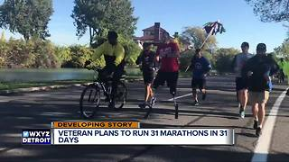 Double amputee veteran plans to run 31 marathons in 31 days - Video