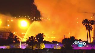 Construction site fire prompts evacuations - Video