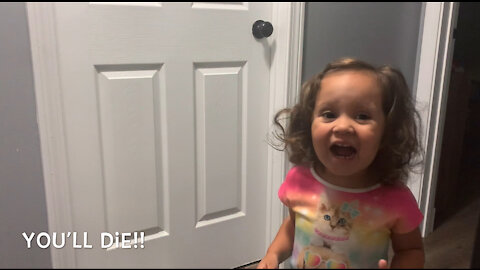 Little girl explains what'll happen if you use the bathroom after daddy
