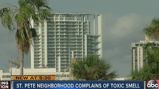 St. Petersburg neigborhood says strange smell lingers - Video