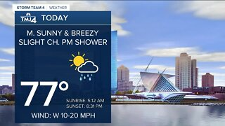 Mostly sunny skies with highs in the 70s Thursday