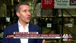 Missouri AG Hawley accuses Gov. Greitens of criminal wrongdoing - Video