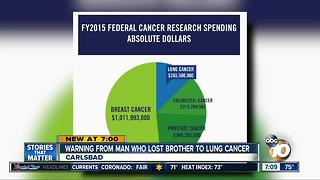Warning from man who lost brother to lung cancer - Video
