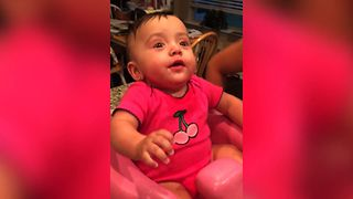 Adorable Baby Can't Contain Happiness Over Drinking From A Cup Like A Big Girl  - Video