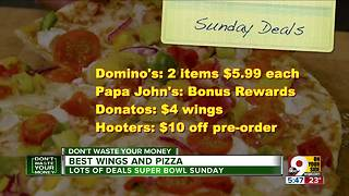 Best Super Bowl deals on wings, pizza - Video