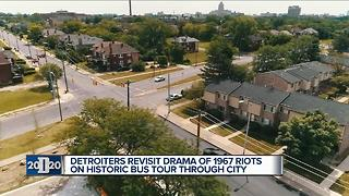 Detroiters revisit drama of 1967 riots through bus tour - Video