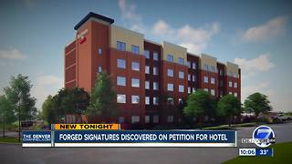 Fake signatures show up on petition for new tech center hotel - Video
