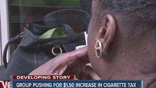 Push to increase the cigarette tax in Indiana - Video