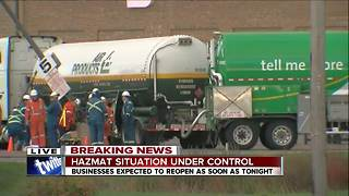 Hazmat situation under control - Video