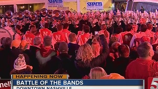 Football Fans Take Over Downtown Before The Music City Bowl - Video