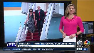 President Trump expected to be in Palm Beach for Christmas - Video