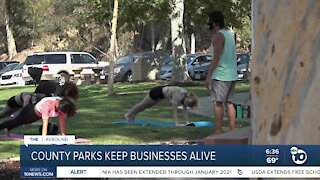 Businesses take advantage of San Diego County park space to stay open