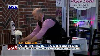 Christmas tree lighting in Seminole Heights - Video