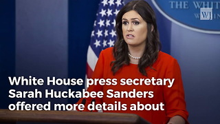 Sarah Sanders Has A Special Message For The Media About Trump's 'Fake News' Awards