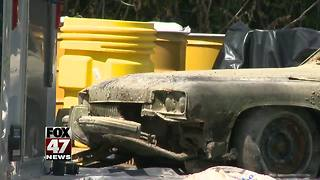 1970s car pulled from Michigan pond; human remains inside