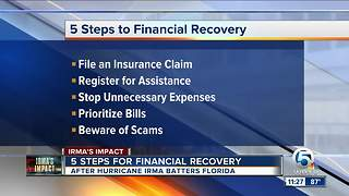 5 steps to financially recover from Hurricane Irma - Video