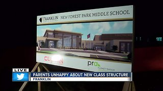Franklin parents unhappy with new class structure