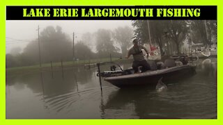 Lake Erie Fishing In The Fog For Largemouth Bass