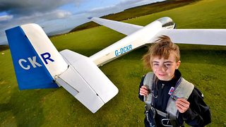 What a high flyer – Schoolgirl learns to pilot glider before she can drive  - Video