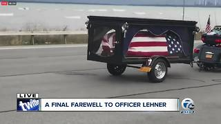 1025 Lehner casket in procession - Video