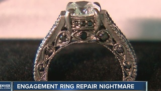 Woman claims Local Jewelry store damaged ring beyond repair - Video